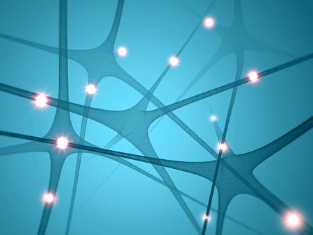 Neurons, synapses brain communication Foto de archivo