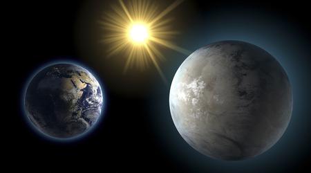 kepler: Earth and Kepler 452-b, sister planet, comparison