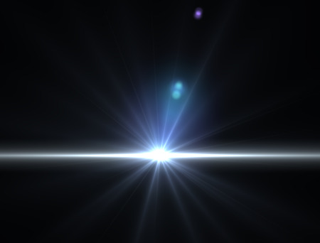 sunbeam: Bright sunbeam light in space