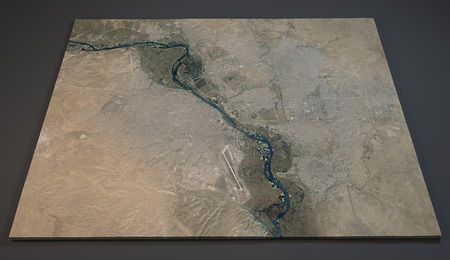 satellite 3d: Satellite View of Mosul, Iraq, 3d section