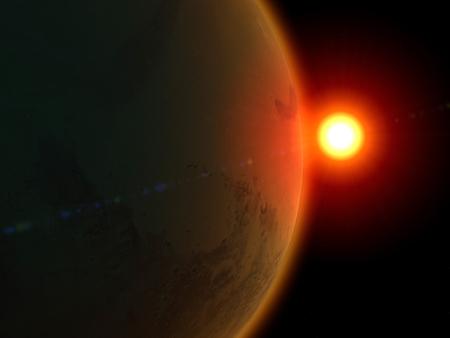 martians: Mars, space, solar system Stock Photo