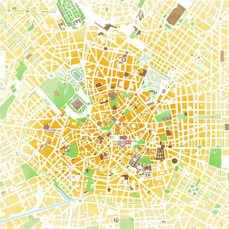 Map Milan, Hand Drawn, Strokes, Roads And Streets, Italy Stock Photo ...
