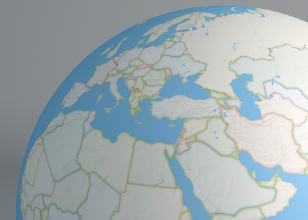 Planisphere map globe syria middle east europe africa and planisphere map globe middle east europe africa and asia photo gumiabroncs Image collections