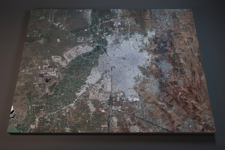 satellite 3d: Homs, satellite view, section 3d, Syria