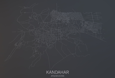 satellite view: Kandahar map, satellite view, section 3d, Afghanistan