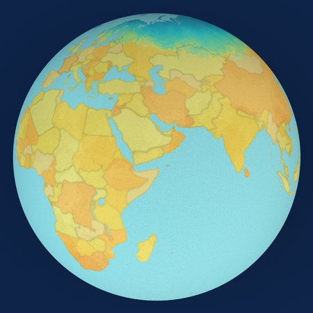 middle east map: World, Middle East, globe map