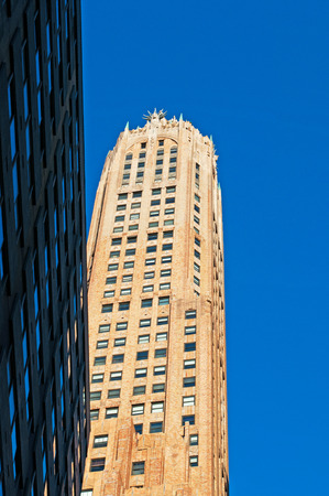 upper floor: Buildings, historical palaces and different architectural styles in New York City skyline