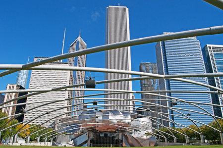 millennium: Millennium Park, Chicago skyline, Pritzker Pavilion, skyscrapers