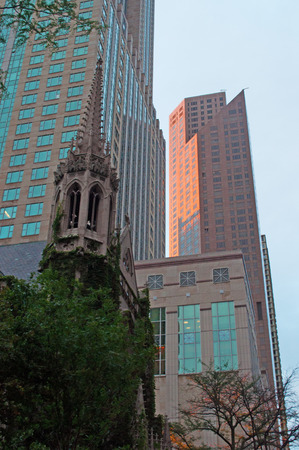 and magnificent: Fourth Presbyterian Church in the Magnificent Mile neighborhood, Chicago skyline