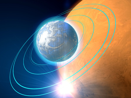 another way: Planets in another galaxy, space, science fiction Stock Photo