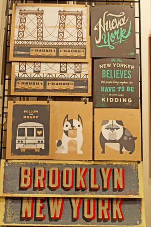 chelsea market: New York and Brooklyn posters and postcards in Chelsea Market