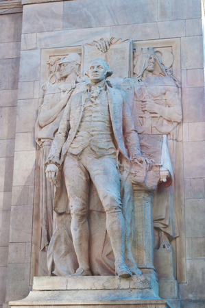 george washington statue: New York, George Washington statue on Washington Square Arch