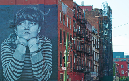 murals: Brooklyn buildings and murals, skyline