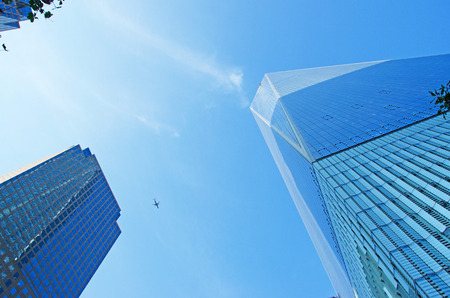 metropolis image: New York: looking up at One World Trade Center, September 14, 2014 Editorial
