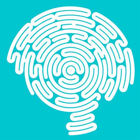 brain disease: Brain-shaped maze, inside a head in profile, side view