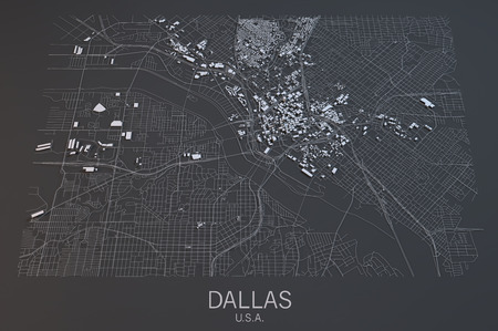 satellite view: Dallas map, satellite view, Texas, United States