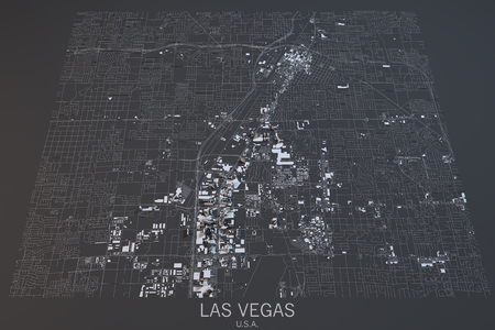 satellite view: Las Vegas map, satellite view, Nevada, United States