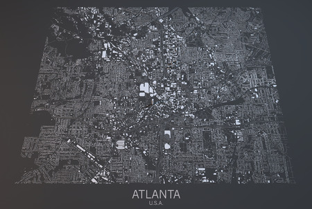 satellite view: Atlanta map, satellite view, United States