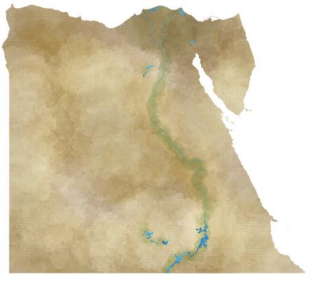 egypt revolution: Egypt map, physical map, hand drawn, illustrated