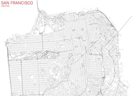 샌프란시스코지도, 위성보기, 거리 및 고속도로, 미국