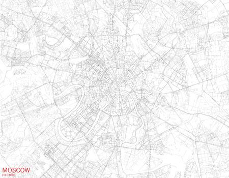 모스크바, 위성보기, 거리와 고속도로, 러시아의지도 스톡 콘텐츠 - 56342156