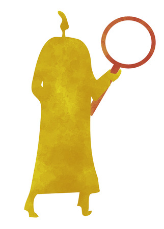 investigated: Person with a magnifying glass, detective, investigator