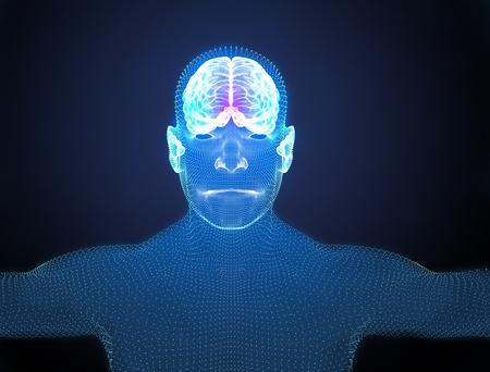 degenerative: Brain degenerative diseases, Parkinsons, body, face Stock Photo