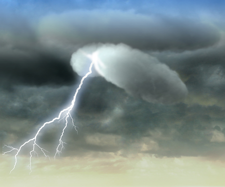 precipitation: Lightning, cloud, precipitation, atmospheric phenomenon