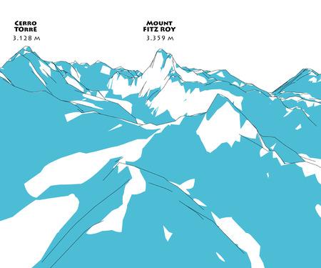 roy: Mountain Fitz Roy, height relief, mountains, Patagonia, Chile