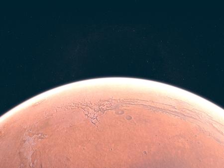 martians: Mars, soil crust, space, solar system. Stock Photo