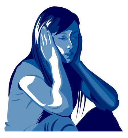 alone in the dark: Woman depression, abuse, beating, girl, child, violence against women