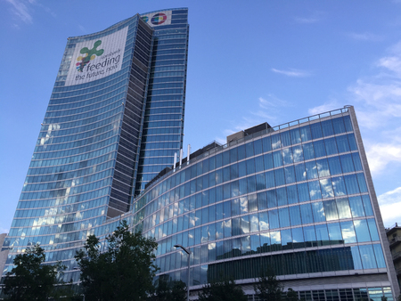 Palazzo Lombardia, Milan, Porta Nuova, skyscraper, 04.15.2016. Lombardy region, headquarters of the Regional Council of Lombardy, the square city of Lombardy