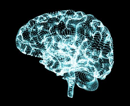 Brain degenerative diseases, Parkinsons, Alzheimers, 3d rendering