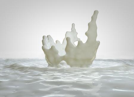 Splash, drops of milk, breakfast