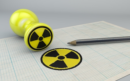 Nuclear stamp, nuclear war, sign agreement, pen
