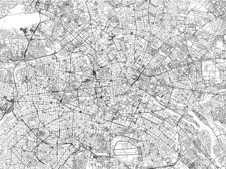 Berlin Karte, Städte, Straßen, Deutschland, Satellitenbild