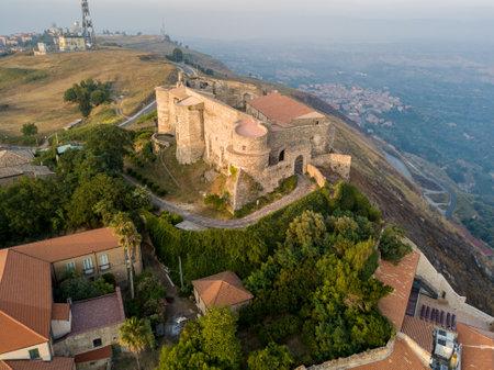 Aerial view of Norman Svevo Castle, Vibo Valentia, Calabria, Italy Editorial