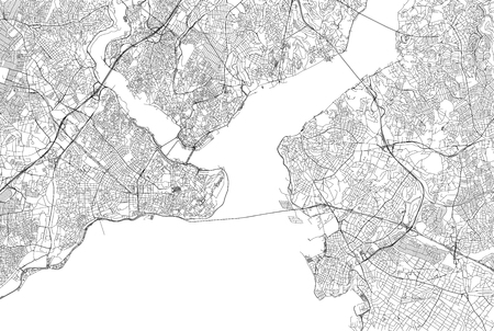Streets of Istanbul, city map, Turkey