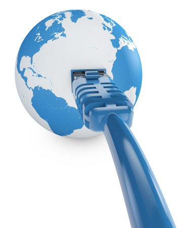 internet connection, bandwidth. The world on the web. World Connections, Globe. South America