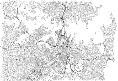 streets of sydney city map australia street map stock vector 90473663