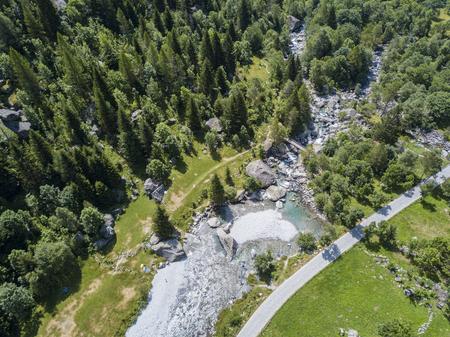 Mello-vallei, Val di Mello, Yosemite-vallei door de natuurliefhebbers. Italië