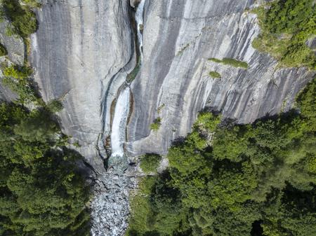 Valley of nature lovers in the valley of Val di Mello, a valley in the valley of Val di Mello, Renamed the Italian Yosemite Valley. Val Masino, Valtellina, Sondrio. Italy