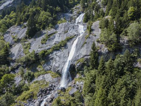 Valley of Mello aerial view, Renamed the Italian Yosemite Valley. Val Masino, Valtellina, Sondrio. italy