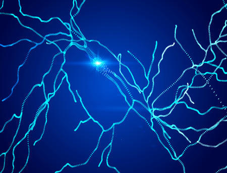 Neurons, synapses, neural network circuits of neurons, brain, degenerative diseases, Parkinsons Stock Photo