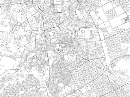Streets of Riyadh, city map, Saudi Arabia, satellite view.