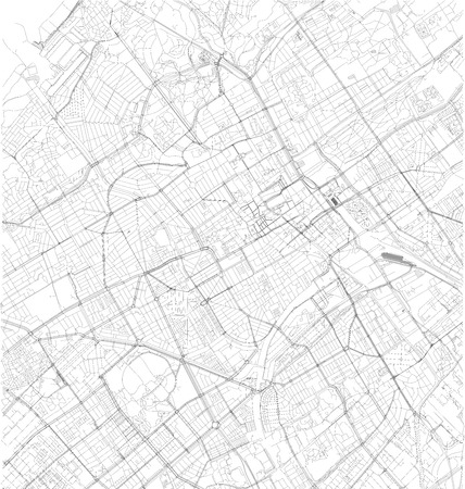 Satellite map of The Hague, Netherlands, Holland, city streets. Street map, city center Illustration