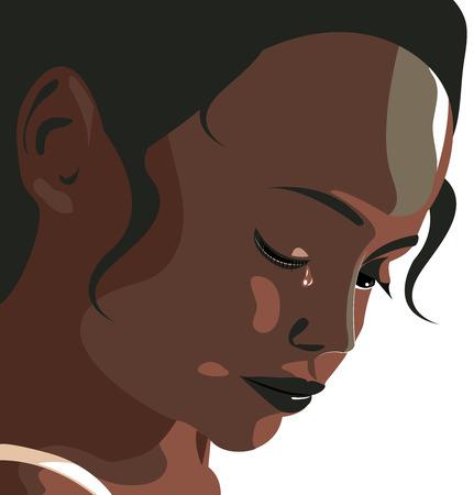 Violencia intrafamiliar, depresión de la mujer, maltrato, paliza, niña, niño, violencia contra la mujer. Niña llorando. Tristeza