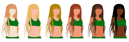 Fitzpatrick skin type, phototypes, girls, color of the complexion. Tanning. Exposure to sunlight
