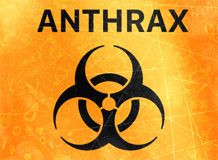 Anthrax. Signs of biological hazards, biohazards, referring to biological substances that pose a threat to the health of living organisms, primarily that of humans. Viruses and bacteria Banco de Imagens