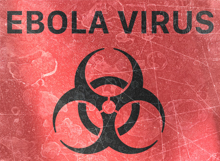 Ebola virus. Signs of biological hazards, biohazards, referring to biological substances that pose a threat to the health of living organisms, primarily that of humans. Viruses and bacteria